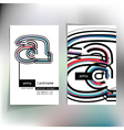 Business card design with letter a vector image