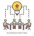 Business meeting line icons vector image vector image
