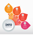 business presentation concept with 4 options info vector image vector image