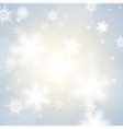 card with winter sun and snowflakes vector image vector image