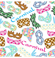 carnival rio colorful pattern masks design vector image vector image