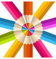 Colorful rainbow pencil circle vector image vector image