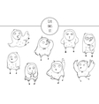 cute with hand drawn set vector image