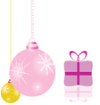 decorations for the Christmas tree and packages vector image