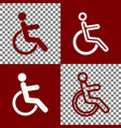 disabled sign bordo and vector image vector image