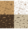 Doodle bakerybread silhouette seamless pattern vector image