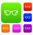 eyeglasses set collection vector image vector image