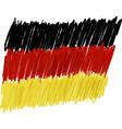 Flag of Germany handmade vector image