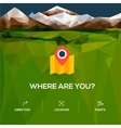 Flat design location icon with pin pointer vector image vector image