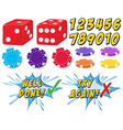 Game set vector image vector image