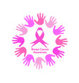 global breast cancer awareness vector image vector image