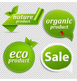 green set eco tags vector image