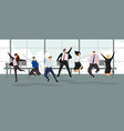 happy business people winning and leadership vector image vector image
