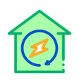 house energy icon outline vector image vector image