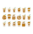 iced coffee cup icon flat design coffee mug vector image vector image