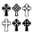 Irish Scottish celtic cross sign vector image vector image