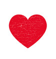isoltted distress grunge heart with cracked vector image vector image