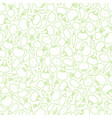 line silhouette seamless vegetable pattern design vector image vector image