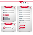 login and register form vector image vector image