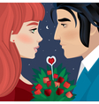 Loving couple on a date vector image vector image