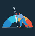 man with arrow and scale vector image vector image