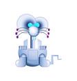 modern silver robot mouse iron cute friendly vector image
