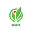 nature concept logo design abstract flower vector image vector image