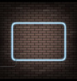 neon frame on the wall vector image