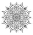 Outline mandala ornament vector image