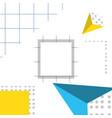 pattern of geometric figures vector image vector image