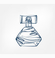 perfume line art sketch outline isolated design vector image vector image
