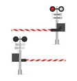 railway barrier isolated on white vector image vector image