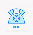 retro telephone thin line icon vector image vector image