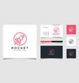 rocket launch logo template vector image