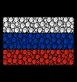 russian flag collage of fist elements vector image