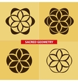 Sacred symbols and geometry for to tattoo vector image