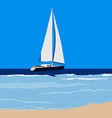 Sailing yacht vector image vector image