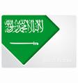 saudi arabian flag design background vector image vector image