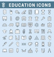 school and education editable icons with fill vector image vector image