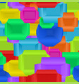 seamless pattern of boxes different color vector image