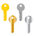 security system concept represented by key icon vector image vector image