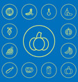 set of 12 editable cooking outline icons includes vector image vector image