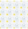 Spring background seamless pattern white chamomile vector image vector image