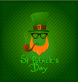 St Patricks Day Green background icon set vector image