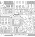 street and building in city seamless pattern vector image vector image