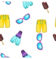 Summer pattern cartoon style vector image