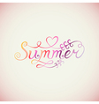 Summer watercolor lettering Hand drawn watercolor vector image vector image