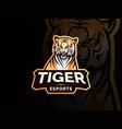 tiger mascot sport logo design vector image