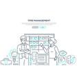 time management - modern line design style banner vector image vector image
