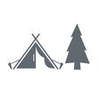 Tourist tent icon vector image